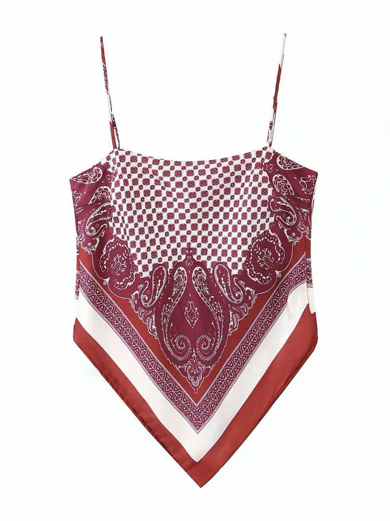 Barely There Bandana Top Clothing M•USE Fashion S Burgundy