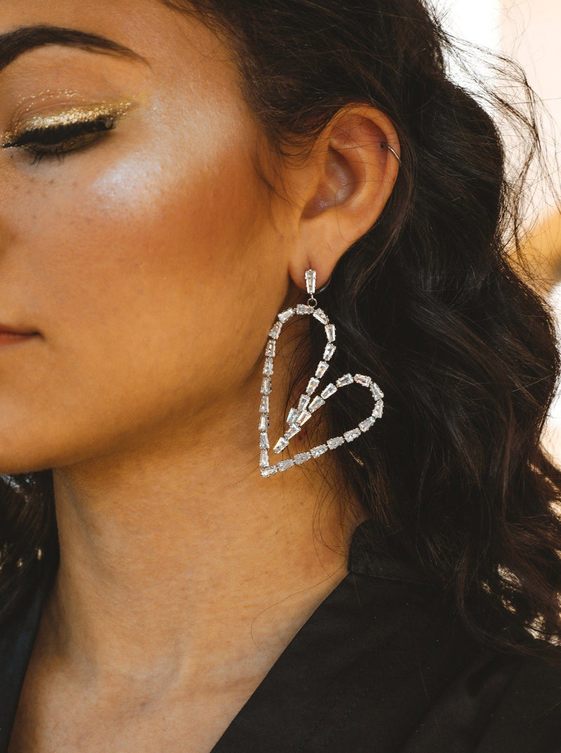 City of Love Crystal Heart Shaped Earrings Jewelry M•USE Fashion