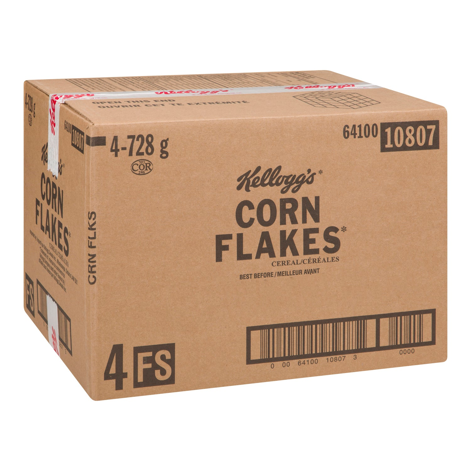 Kellogg's Corn Flakes Cereal 728 g - 4 Pack [$7.09/bag]