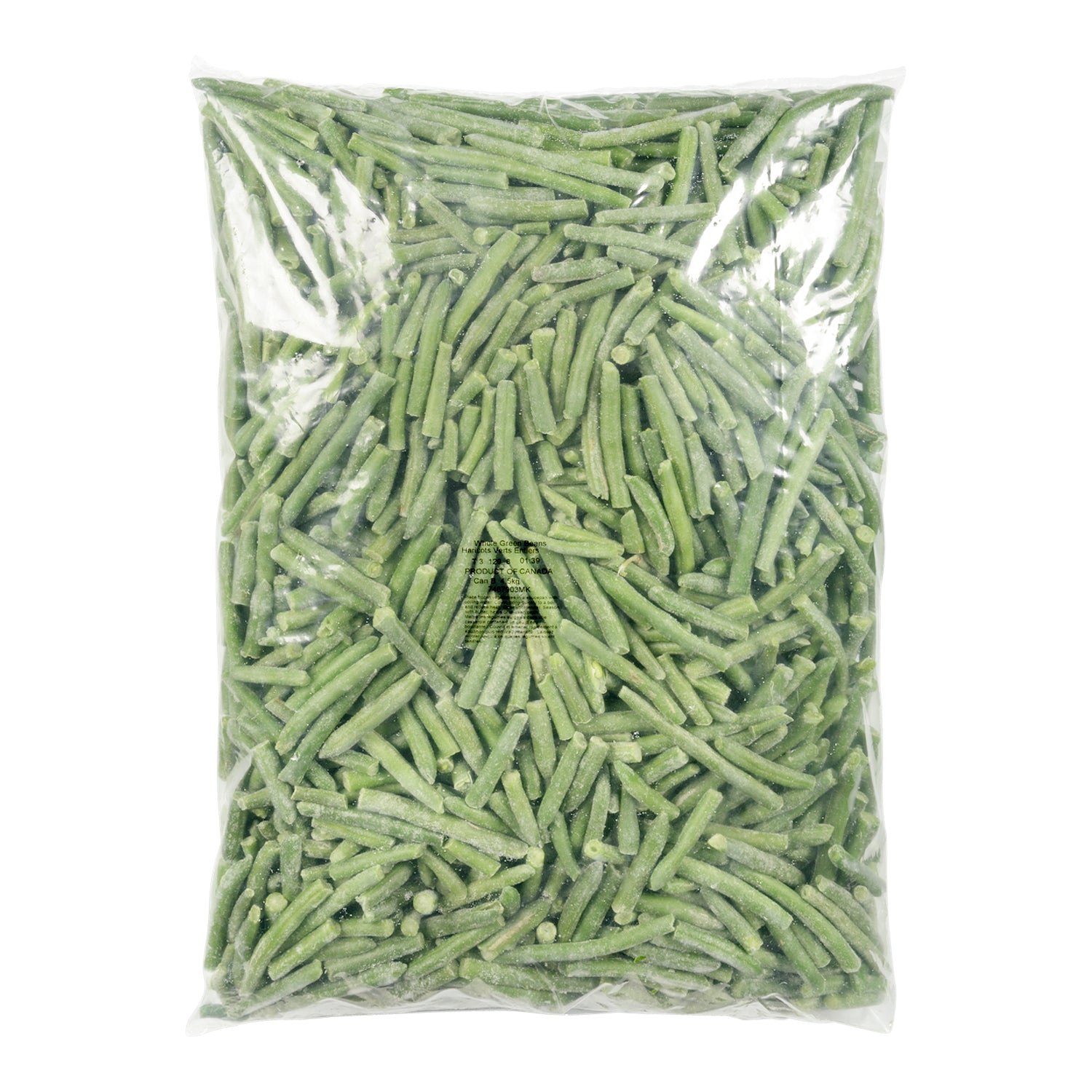 Sysco Reliance Frozen Whole Green Beans 4.5 kg - 2 Pack [$2.98/kg]