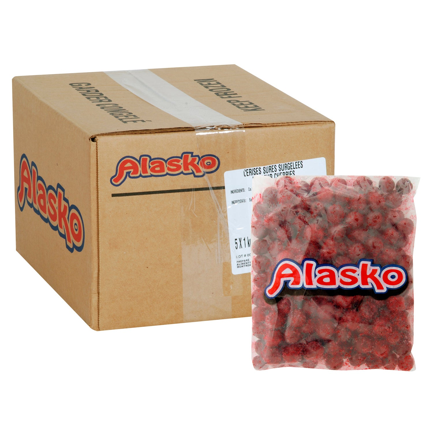 Alasko Individually Quick Frozen Sour Cherries 1 kg - 5 Pack [$6.30/kg]