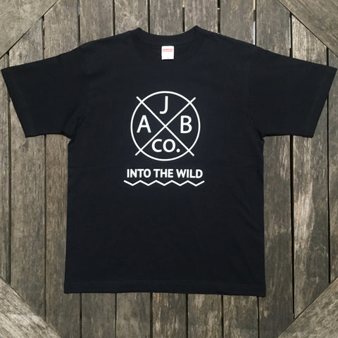 INTO THE WILD Tシャツ 黒×白