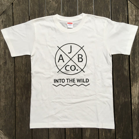 INTO THE WILD Tシャツ 白×黒
