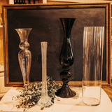 Tall Black Decorative Vase