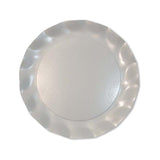 Wavy Dinner Plate Pearly White/8pk