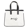 MINI CANVAS TOTE - MRS.