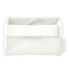 NAPKIN HOLDER - METALLIC WHITE