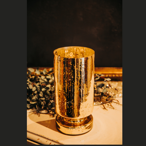 Small Gold Candle Holder