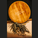 Whiskey Barrel Guest Book Sign