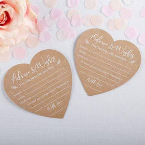 Wedding Advice Card - Heart Shape Set of 50