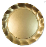 Wavy Charger Satin Gold/8pk