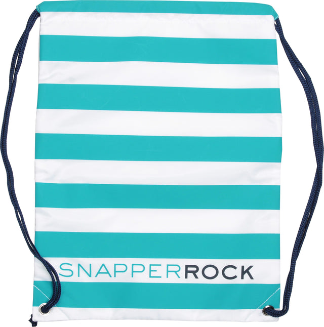 Swim Bag Aqua/White Stripe