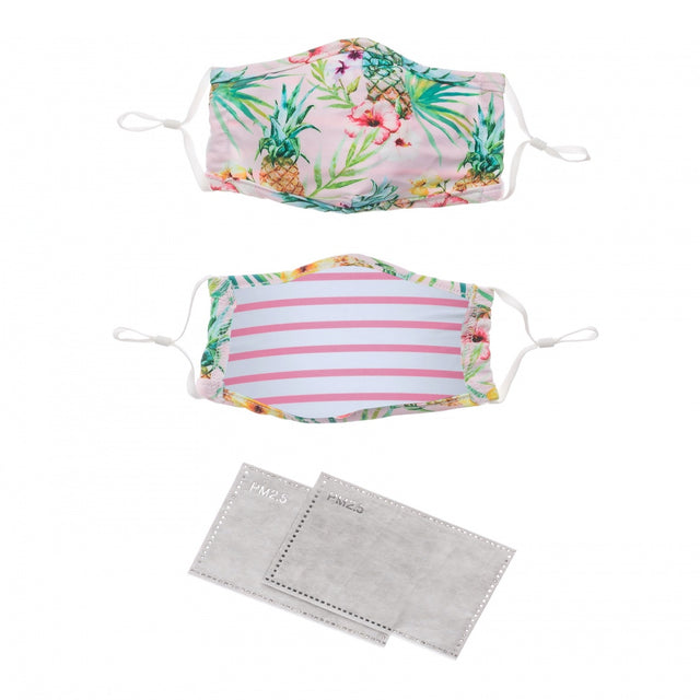 Face Mask Tropicana & Candy Stripe 2 pack