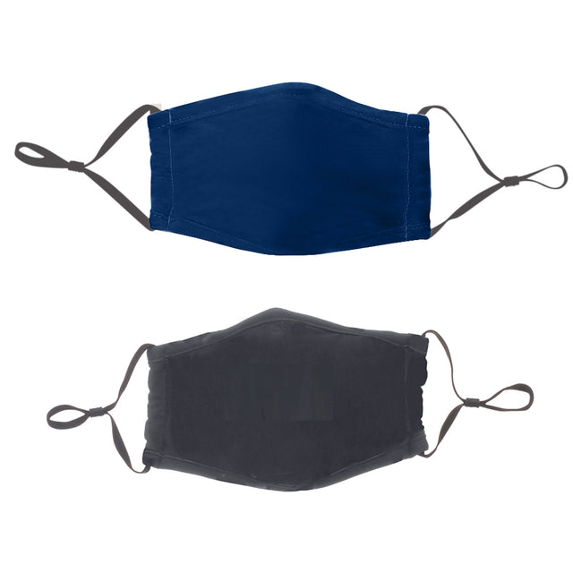 Face Mask Navy & Slate 2 pack