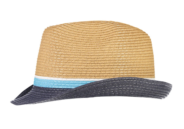 Blues Color Block Fedora