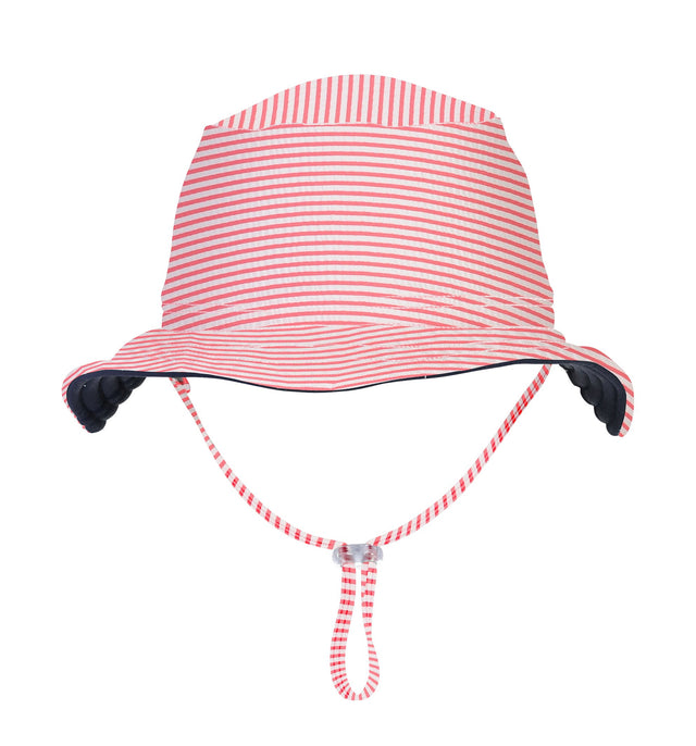 Red & White Stripe Reversible Bucket Hat