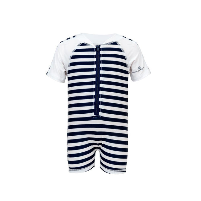 Navy Stripe SS Sunsuit