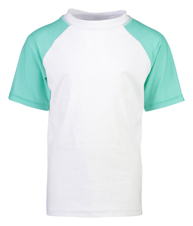 White Mint Sleeve Sustainable SS Rash Top