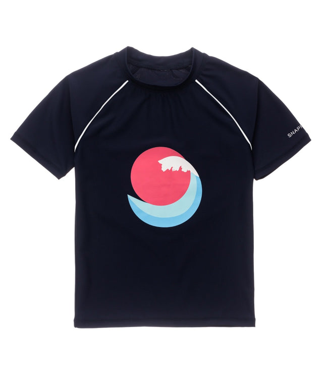 Sunset Wave SS Rash Top