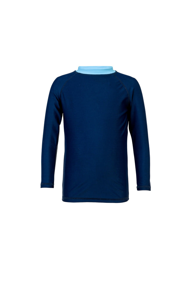Navy/Light Blue LS Rash Top