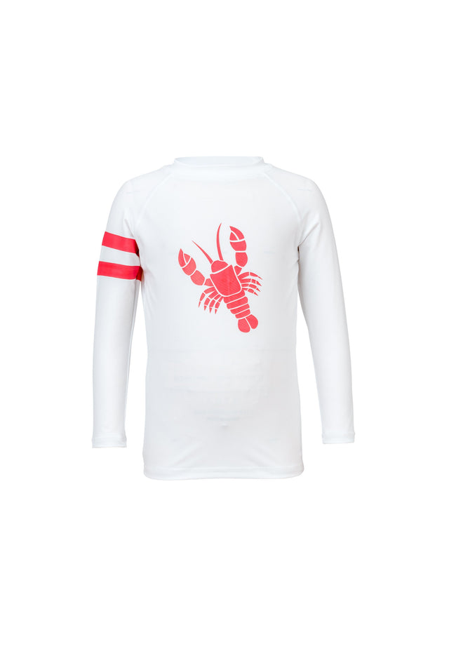 White Lobster LS Rash Top