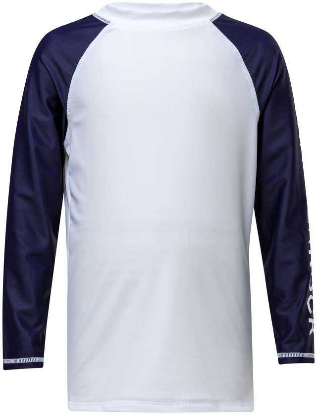 White Navy Sleeve LS Rash Top