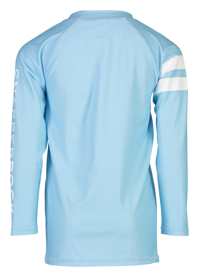 Light Blue White Arm Band LS Rash Top