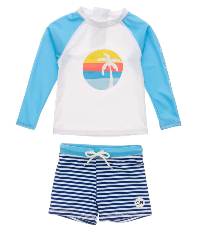 Sunset Stripe Baby LS Set