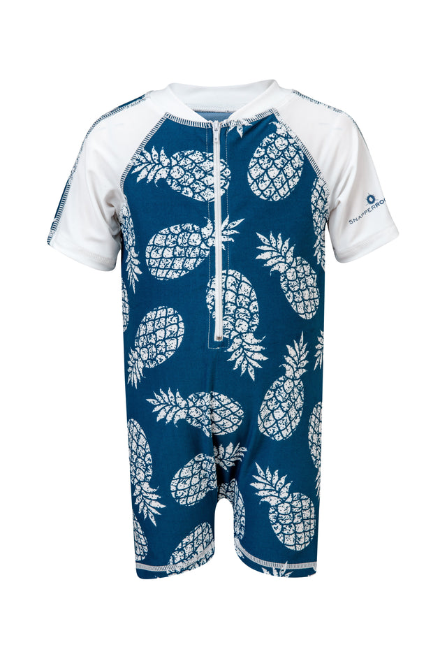 Denim Pineapple SS Sunsuit