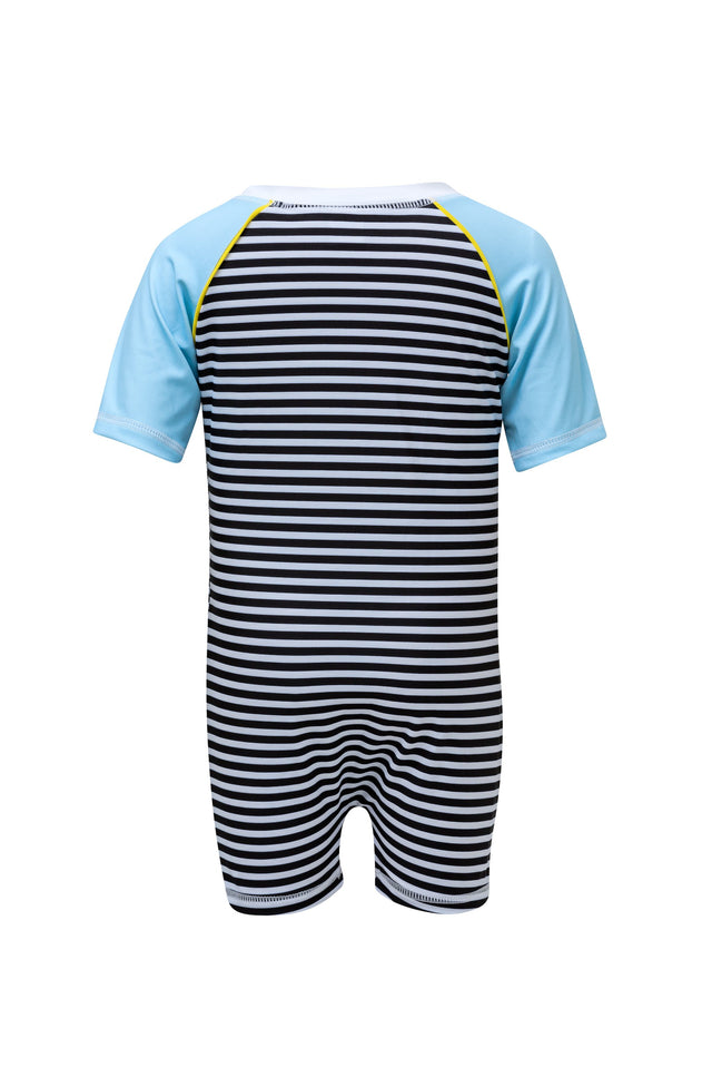 Black/White Stripe SS Sunsuit