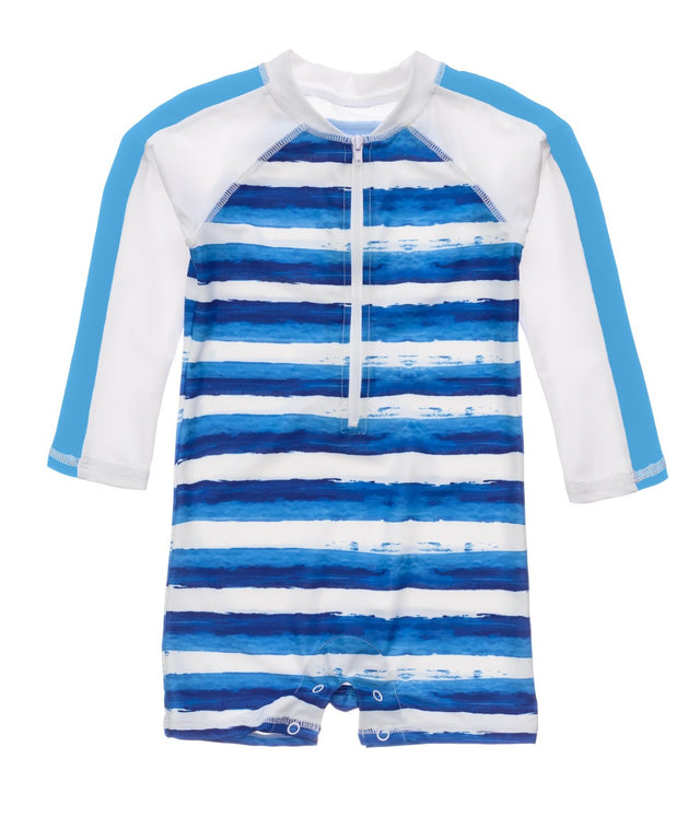 Sunset Stripe LS Sunsuit