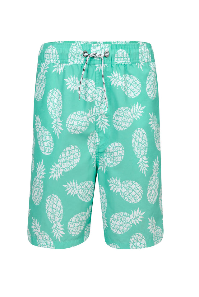Boys Mint Pineapple Pool Boardie