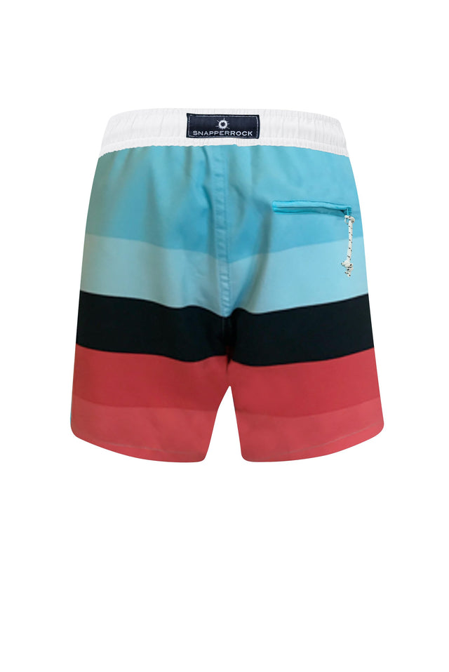 Red/Aqua/Navy Surf Stripe Boardies
