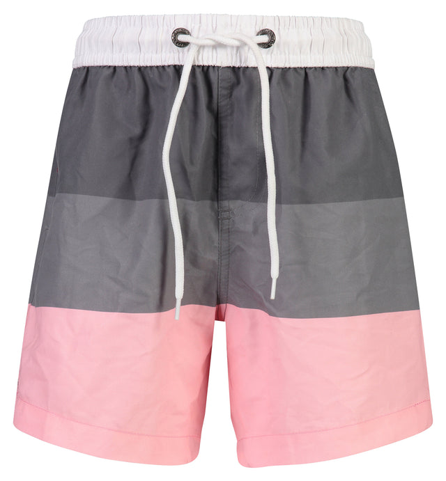 Grey Pink Block Stripe Boardies