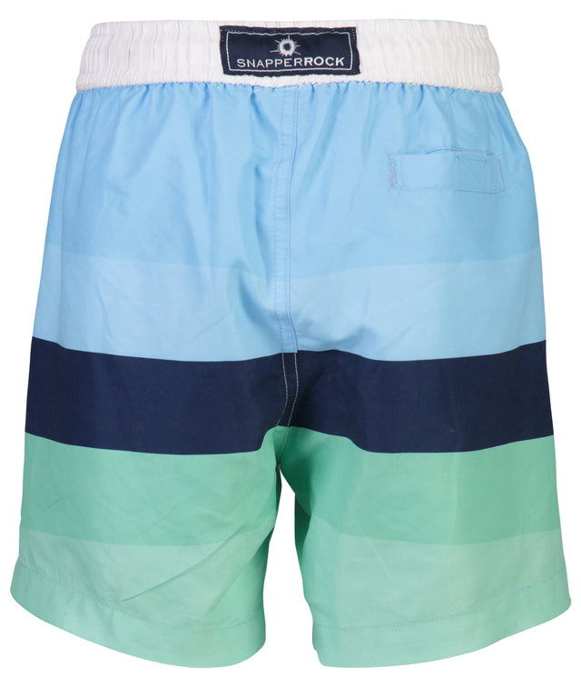 Blue Mint Stripe Boardies