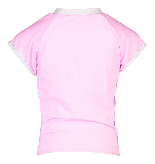 Pink Knot Front SS Rash Top