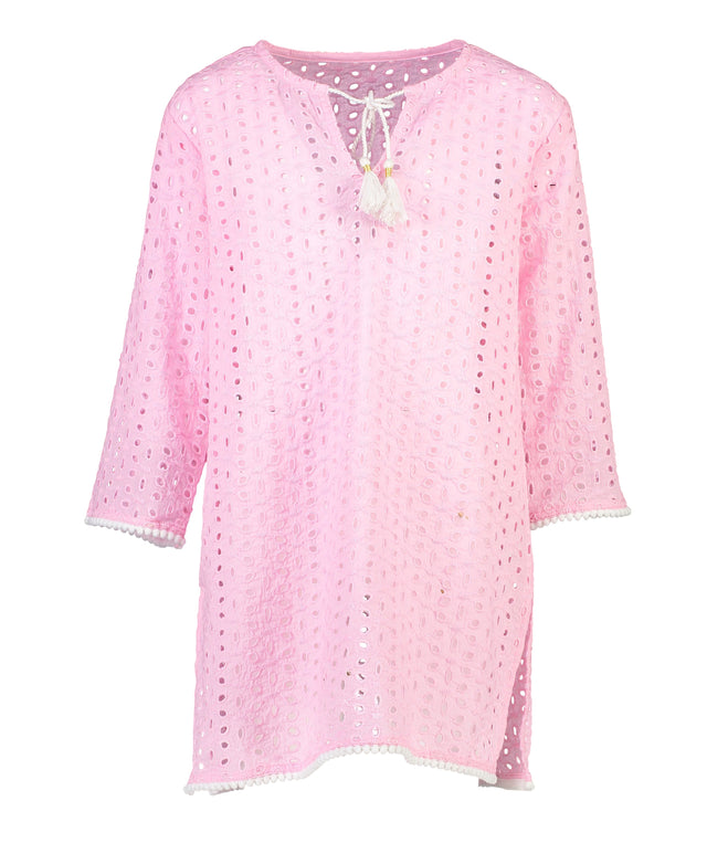 Pink Cut Out Classic Kaftan
