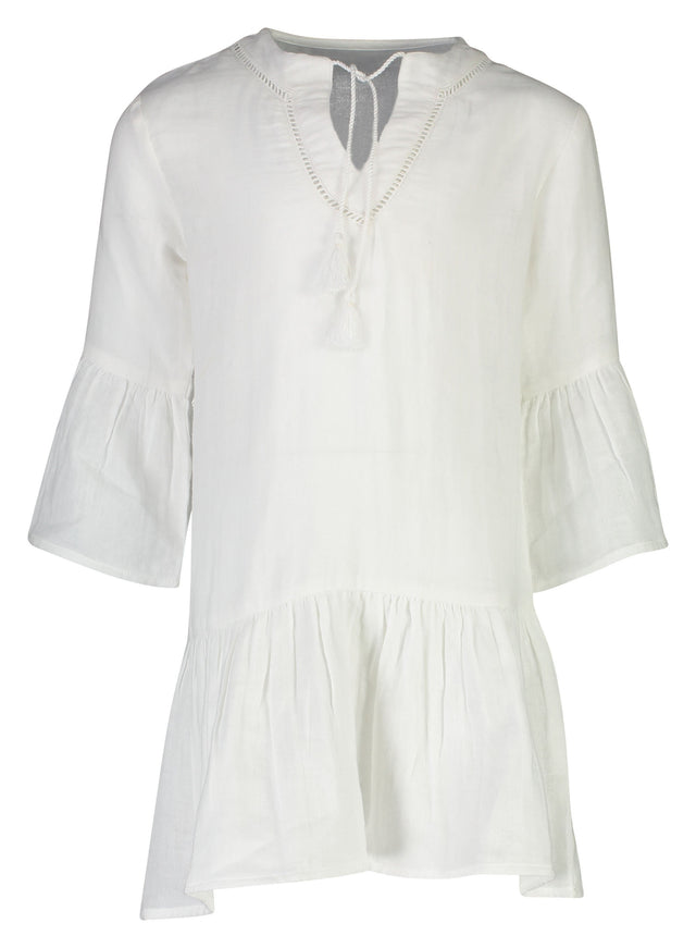 White Organic Cotton Kaftan