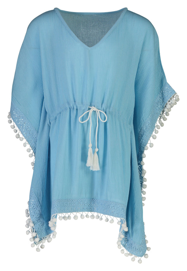 Light Blue Batwing Kaftan