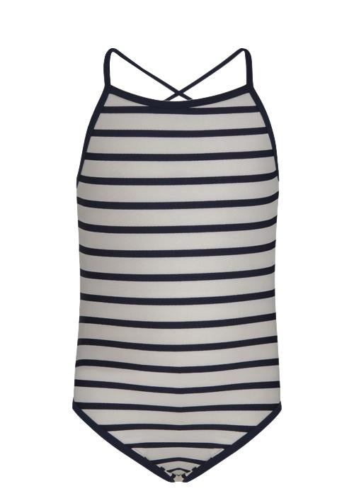 Navy / White Stripe Swimsuit