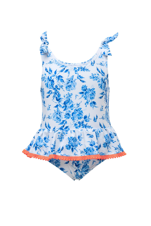 Cottage Floral Frill Skirt Swimsuit