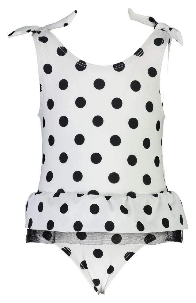 Black & White Spot Skirt Swimsuit