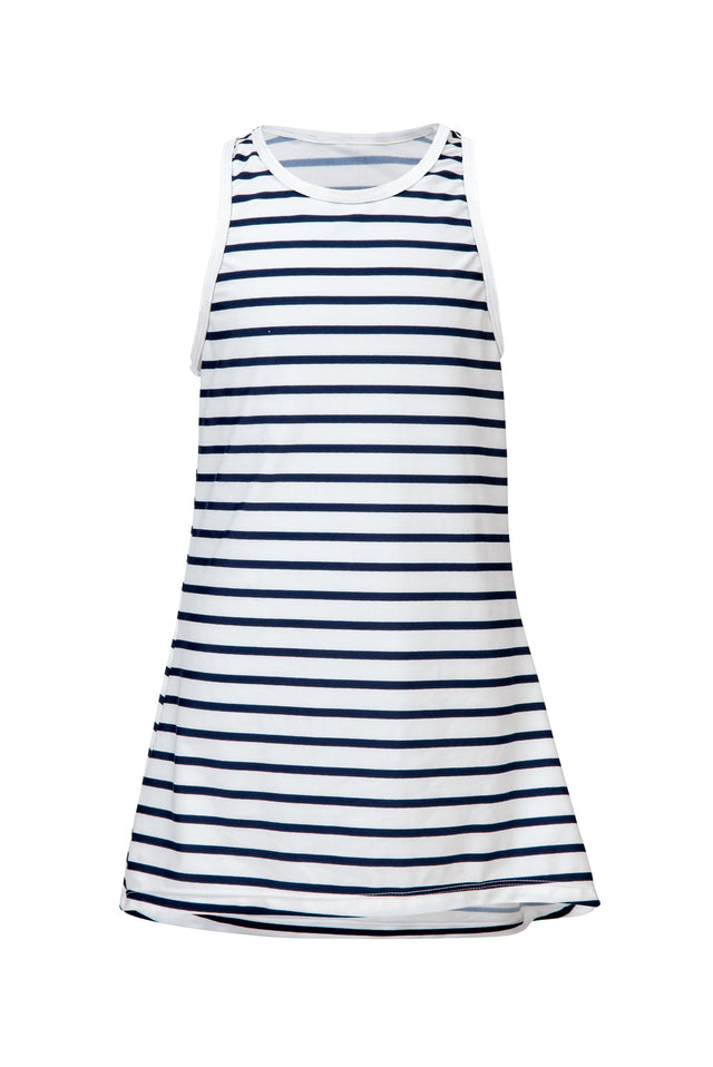 Navy/White Stripe Swim Dress
