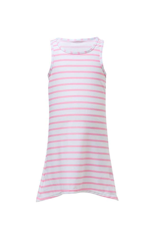Pink/White Stripe Swim Dress