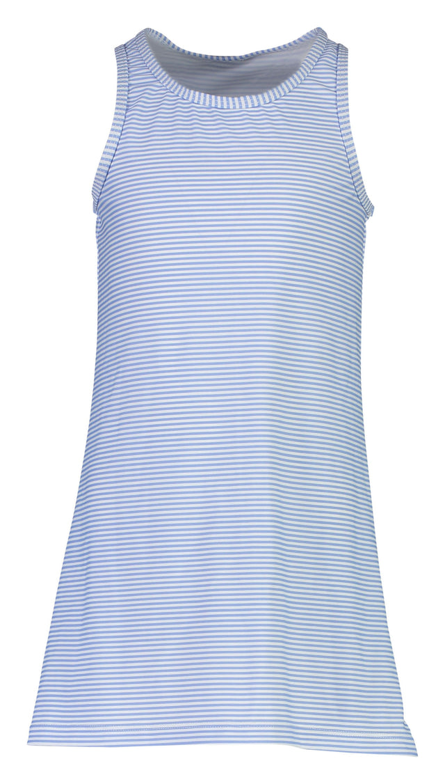 Blue & White Stripe Swim Dress