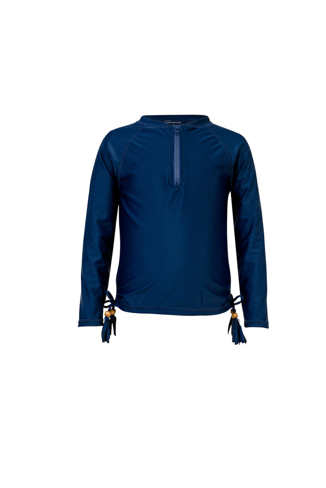 Navy 1/2 Zip L/S Rash Top