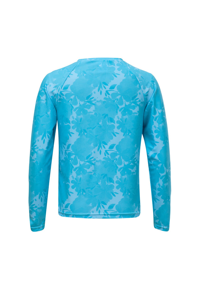 Blue Leaf LS Rash Top