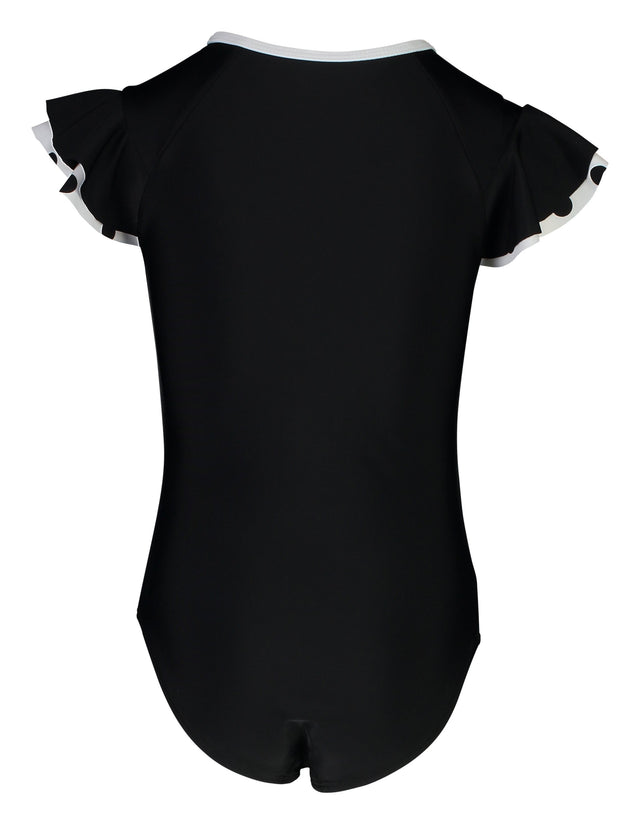 Black Flutter Sleeve Surfsuit