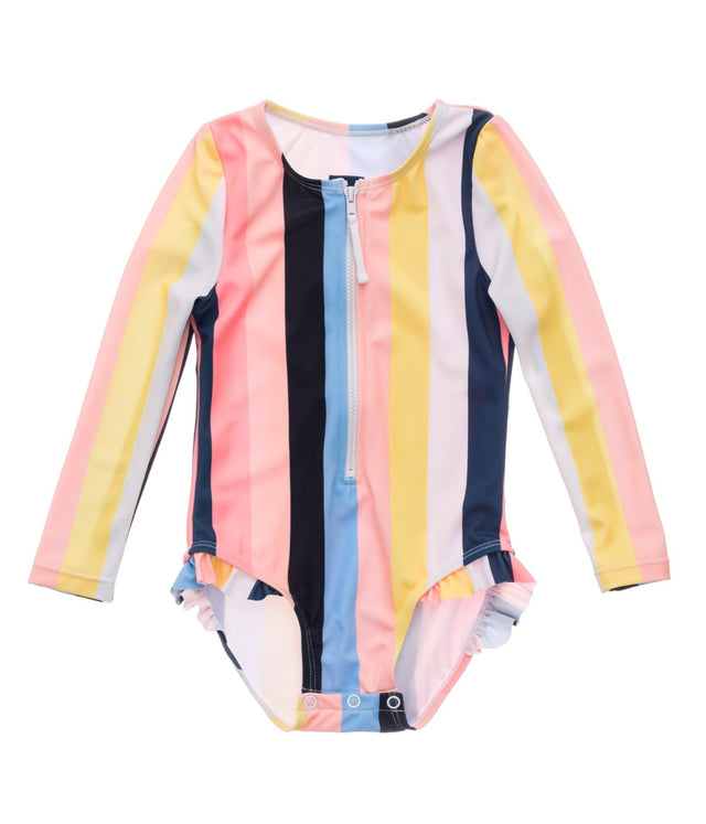 Opti Stripe Baby LS Surf Suit
