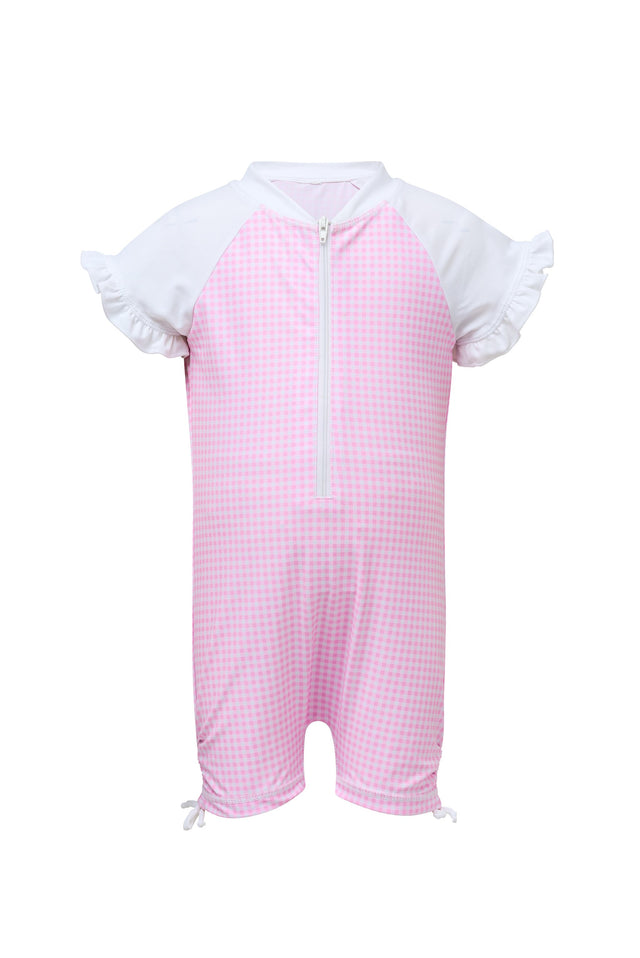 Pink Gingham SS Sunsuit